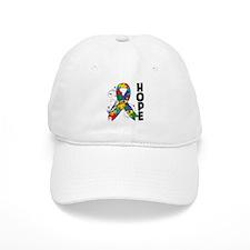 Hope Floral Ribbon Autism Baseball Cap