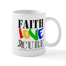 Faith Love Cure Autism Mug