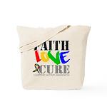 Faith Love Cure Autism Tote Bag
