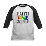 Faith Love Cure Autism Kids Baseball Jersey