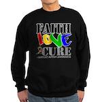 Faith Love Cure Autism Sweatshirt (dark)