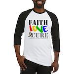 Faith Love Cure Autism Baseball Jersey