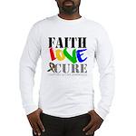 Faith Love Cure Autism Long Sleeve T-Shirt