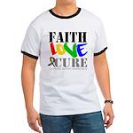 Faith Love Cure Autism Ringer T