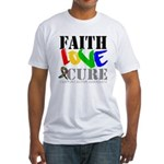 Faith Love Cure Autism Fitted T-Shirt