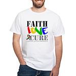 Faith Love Cure Autism White T-Shirt