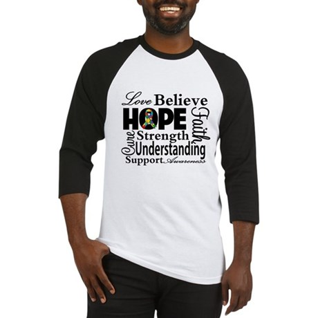 Love Believe Hope Autism Baseball Jersey
