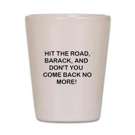 Hit the Road! Shot Glass