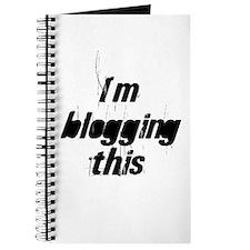 I'm blogging this Journal