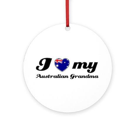I love My Australian Grandmother Ornament (Round)