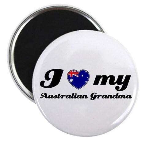 "I love My Australian Grandmother 2.25"" Magnet (10"