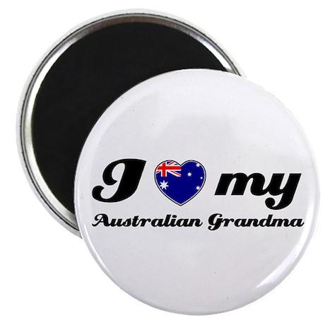 "I love My Australian Grandmother 2.25"" Magnet (100"