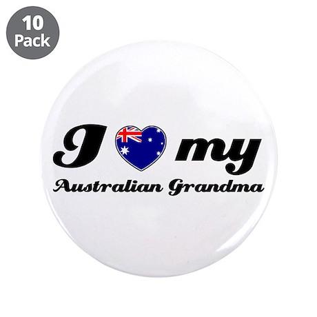 "I love My Australian Grandmother 3.5"" Button (10 p"