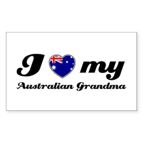 I love My Australian Grandmother Sticker (Rectangl