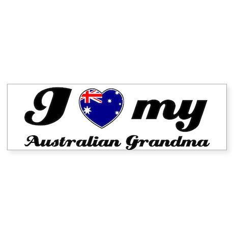 I love My Australian Grandmother Sticker (Bumper)