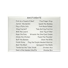 Masturbate Rectangle Magnet (10 pack)