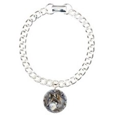 Wolf Head Background Bracelet