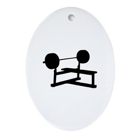 Weightlifting Ornament (Oval)