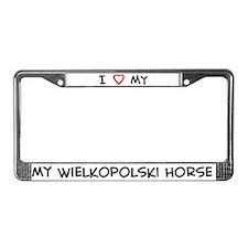 I Love Wielkopolski Horse License Plate Frame