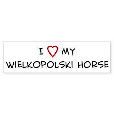 I Love Wielkopolski Horse Bumper Bumper Sticker