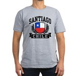 Santiago Chile Men's Fitted T-Shirt (dark)