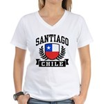 Santiago Chile Women's V-Neck T-Shirt