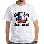 Santiago Chile White T-Shirt