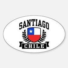 Santiago Chile Sticker (Oval)