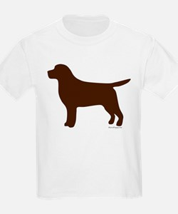 Chocolate Lab Silhouette T-Shirt
