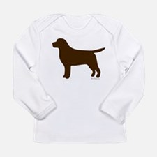 Chocolate Lab Silhouette Long Sleeve Infant T-Shir