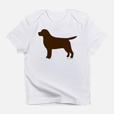 Chocolate Lab Silhouette Infant T-Shirt