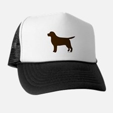 Chocolate Lab Silhouette Trucker Hat