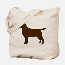Chocolate Lab Silhouette Tote Bag