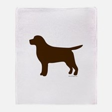Chocolate Lab Silhouette Throw Blanket