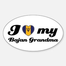 I love My Bajan Grandmother Sticker (Oval)