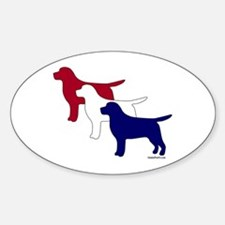 Patriotic Labs Sticker (Oval)