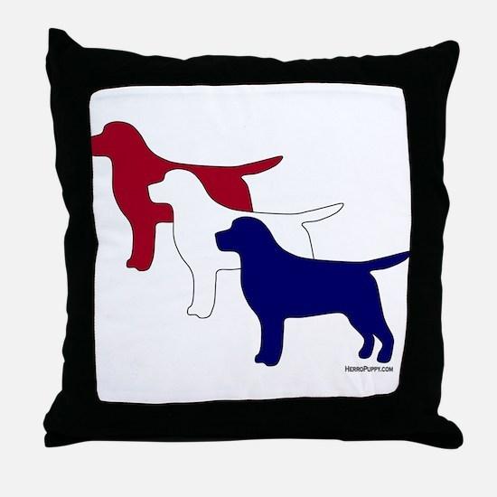 Patriotic Labs Throw Pillow