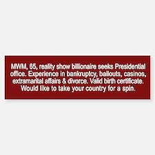 Trump Personal Ad - Bumper Bumper Sticker