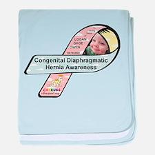 Logan Gage Owen CDH Awareness Ribbon baby blanket