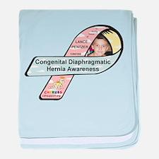 Lance Pentzer CDH Awareness Ribbon baby blanket