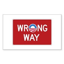 Obama Wrong Way Decal