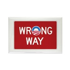 Obama Wrong Way Rectangle Magnet