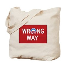 Obama Wrong Way Tote Bag