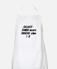 SELECT * FROM users WHERE clu BBQ Apron
