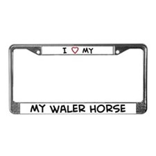 I Love Waler Horse License Plate Frame