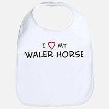 I Love Waler Horse Bib