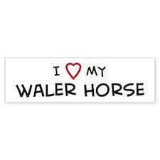 I Love Waler Horse Bumper Bumper Sticker