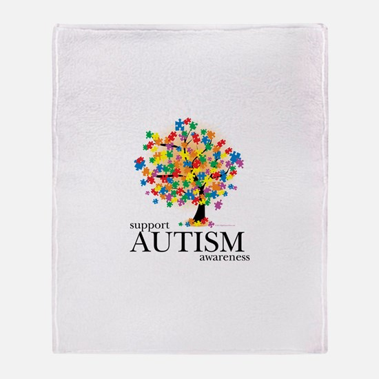 Autism Tree Throw Blanket