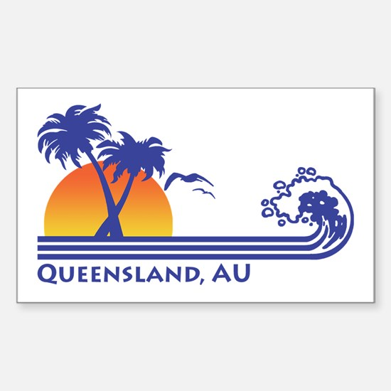 Queensland Australia Sticker (Rectangle)