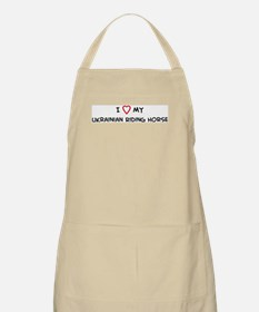 I Love Ukrainian Riding Horse BBQ Apron